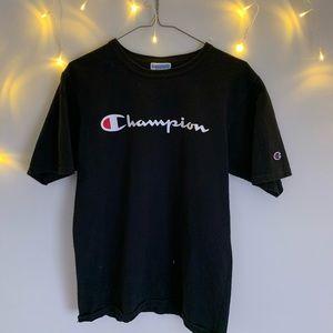 Essentially Black Champion T-Shirt !! 🖤
